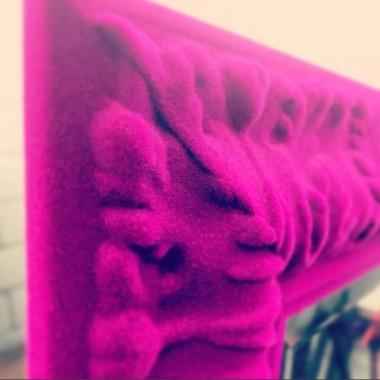 Spiegellijst geflockt in paars